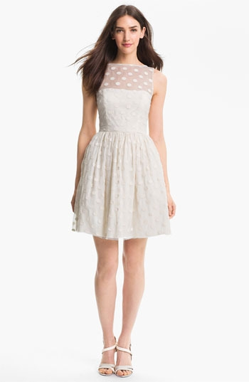 Jill Stuart Polka Dot Fit & Flare Dress