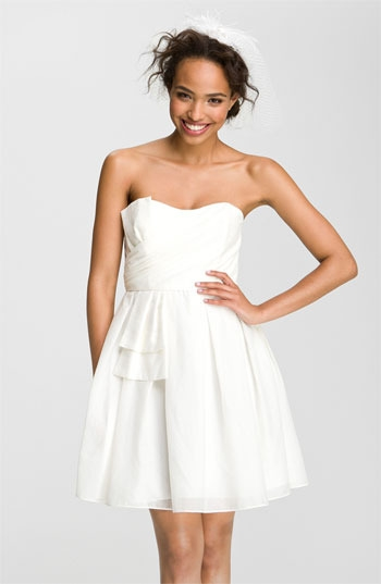 Jill Stuart Sweetheart Neckline Bow Detail Dress