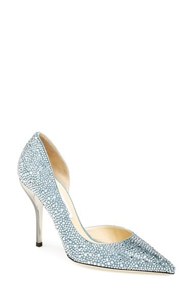 Jimmy Choo 'Willis' Crystal Half d'Orsay Pump (Women)