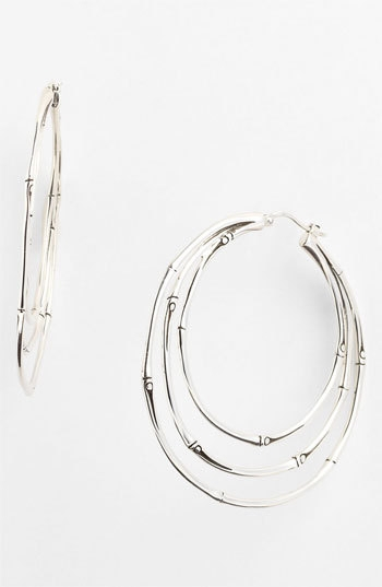 John Hardy 'Bamboo' Medium Orbital Hoop Earrings
