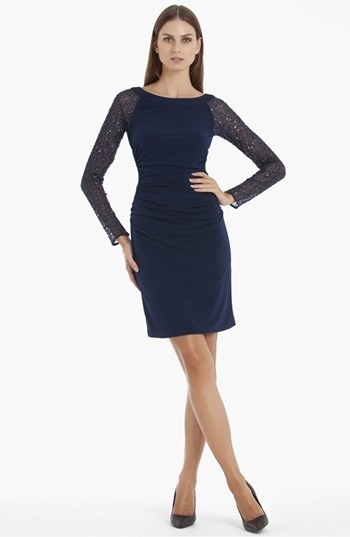 JS Boutique Embellished Jersey Sheath Dress