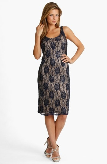 JS Collections Embellished Lace Tank Dress