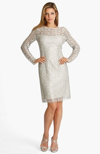 JS Collections Illusion Lace Dress
