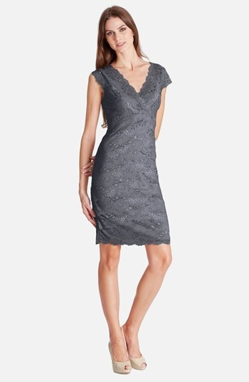 JS Collections Layered Lace Sheath Dress (Petite)