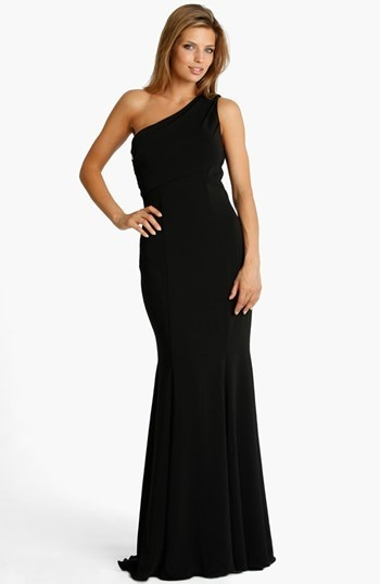JS Collections One Shoulder Jersey Gown
