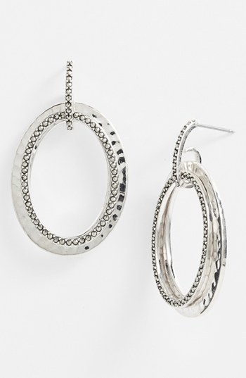 Judith Jack 'Halo' Oval Drop Earrings