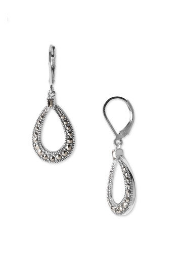 Judith Jack Marcasite Teardrop Earrings