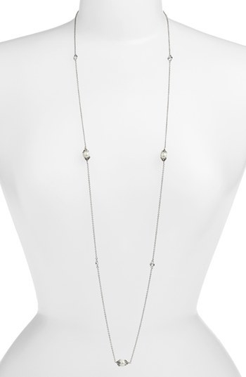 Judith Jack 'Pearl Romance' Long Station Necklace