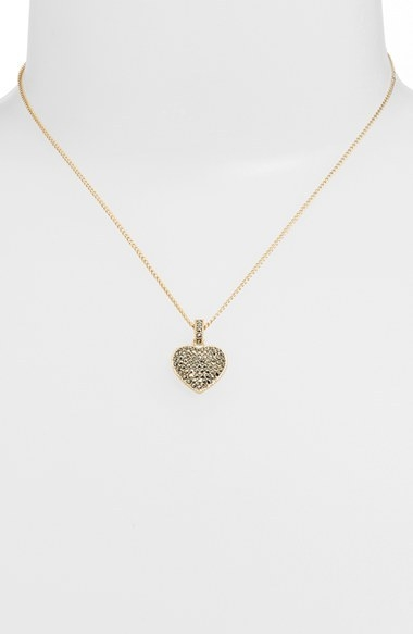 Judith Jack Reversible Pave Heart Necklace