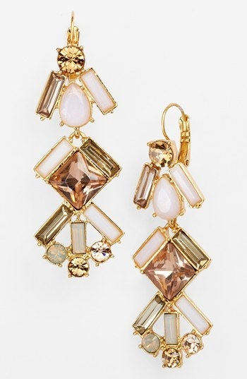 kate spade new york 'baguette bridal' linear chandelier earrings