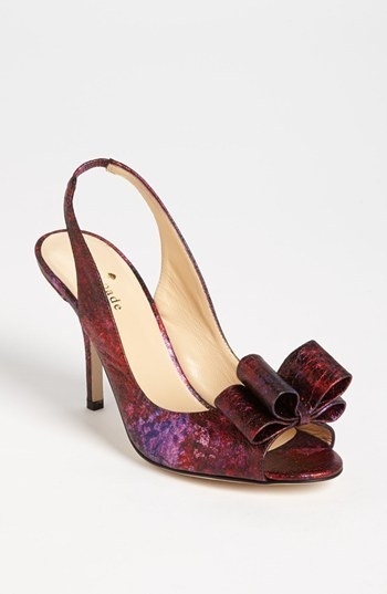 kate spade new york 'charm' slingback pump
