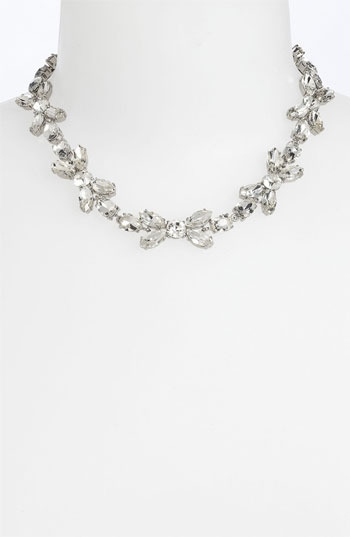 kate spade new york 'crystal petals' collar necklace