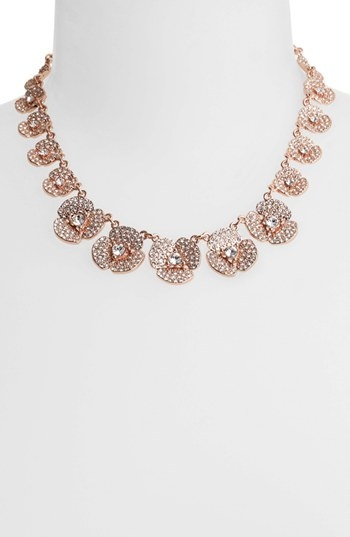 kate spade new york 'disco pansy' pave flower collar necklace