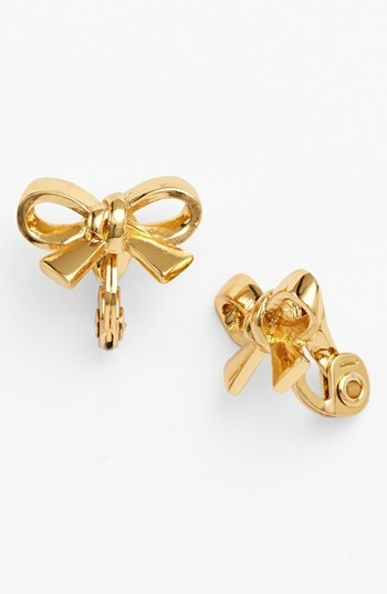 kate spade new york 'finishing touch' bow clip earrings