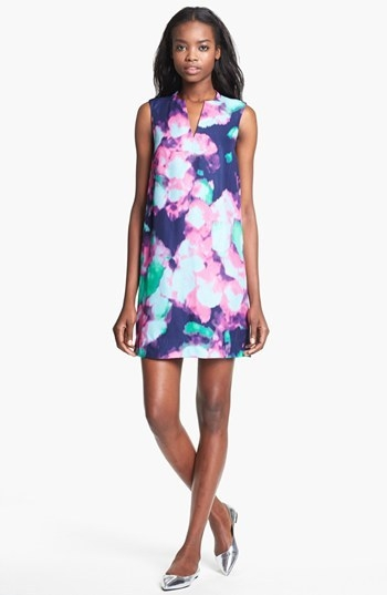 kate spade new york 'keri' abstract floral print dress