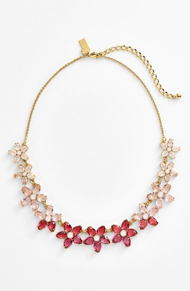 kate spade new york 'ombre bouquet' crystal collar necklace