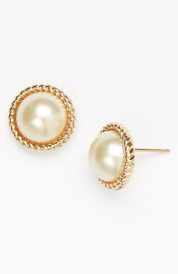 kate spade new york 'seaport' faux pearl studs