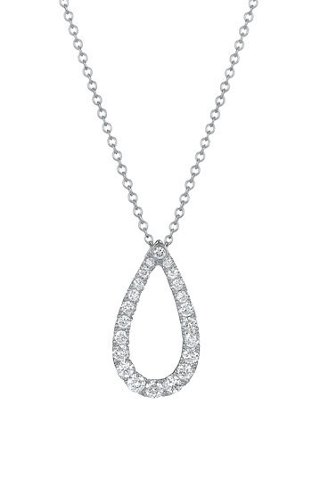 Kwiat 'Contorno' Teardrop Diamond Pendant Necklace