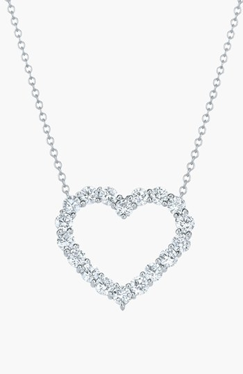 Kwiat Open Diamond Heart Pendant Necklace