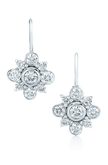 Kwiat 'Petal' Diamond & White Gold Drop Earrings