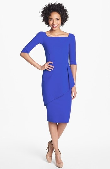 La Petite Robe by Chiara Boni Peplum Pencil Dress