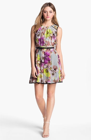 Label by 512 Floral Print Fit & Flare Dress