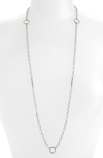 Lagos Caviar Link Long Strand Necklace