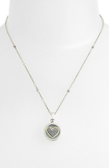 Lagos Heart Locket Caviar Necklace