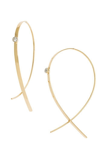Lana Jewelry 'Small Upside Down' Diamond Hoop Earrings