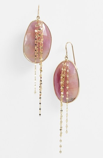 Lana Jewelry 'Stone Gold' Sapphire Cascade Earrings