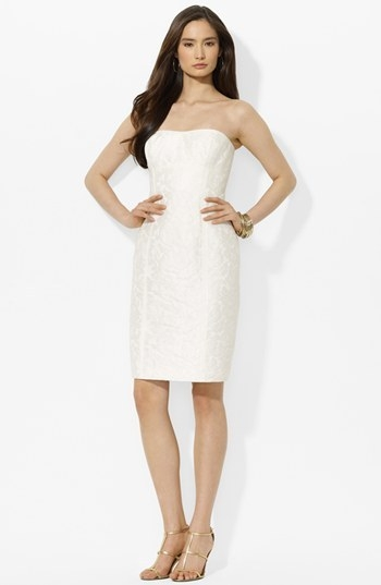 Lauren Ralph Lauren Jacquard Lace Sheath Dress