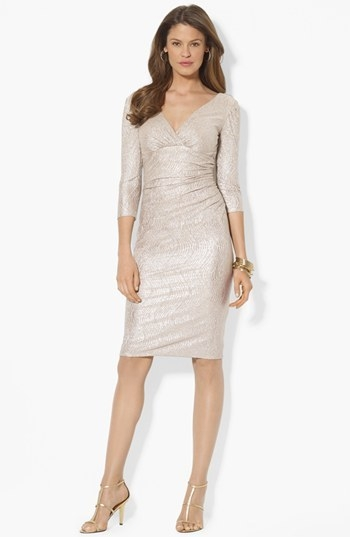 Lauren Ralph Lauren Metallic Knit Dress