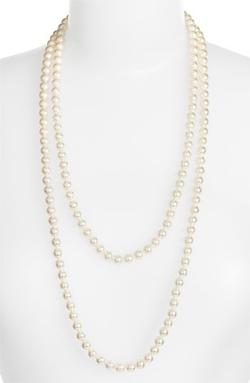 Majorica 8mm Round Pearl Endless Rope Necklace