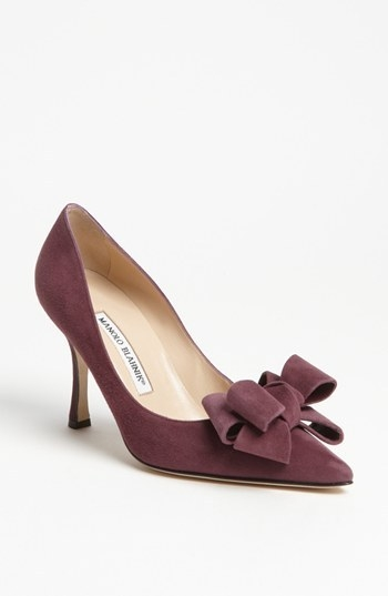 Manolo Blahnik Bow Pump