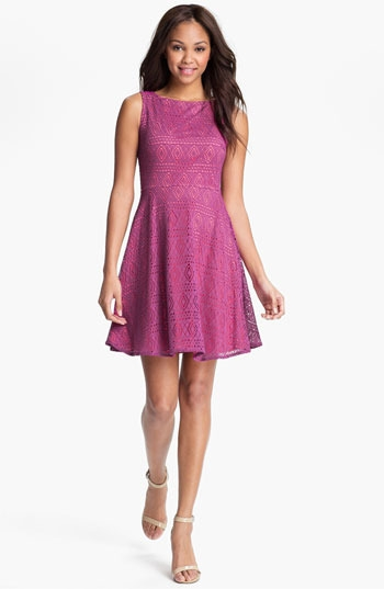 Marc New York by Andrew Marc Lace Fit & Flare Dress