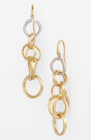 Marco Bicego 'Jaipur' Diamond Link Drop Earrings