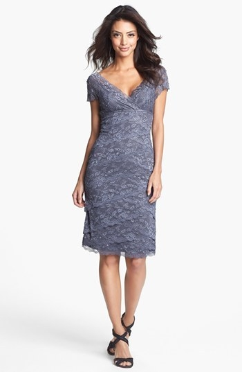 MARINA Tiered Lace Dress