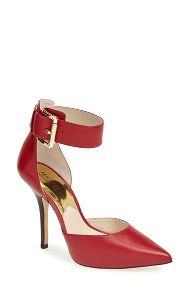 MICHAEL Michael Kors 'Brinkley' Ankle Strap Pointy Toe d'Orsay Pump (Women)