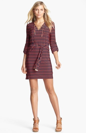 MICHAEL Michael Kors Lace-Up Jersey Dress (Petite)