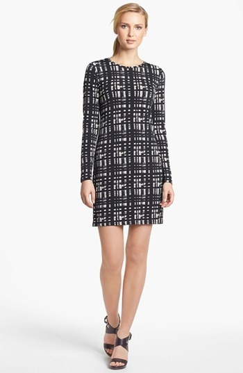 MICHAEL Michael Kors Plaid Crewneck Dress