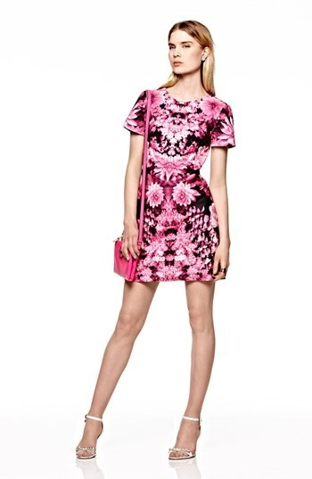 MICHAEL Michael Kors Short Sleeve Print Dress