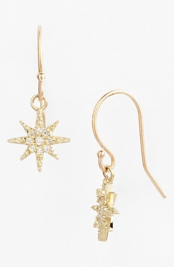 Mizuki 'Icicles' Small Starburst Drop Earrings