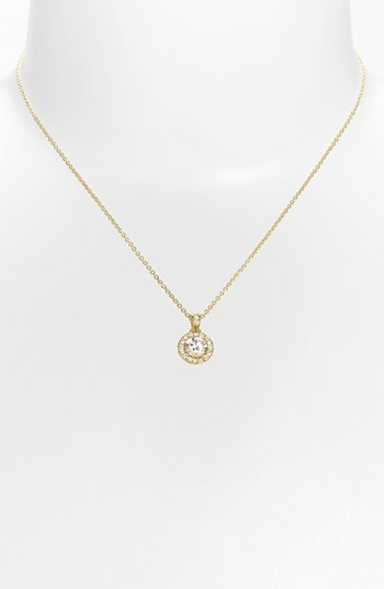 Nadri Boxed Framed Round Cubic Zirconia Necklace (Nordstrom Exclusive)