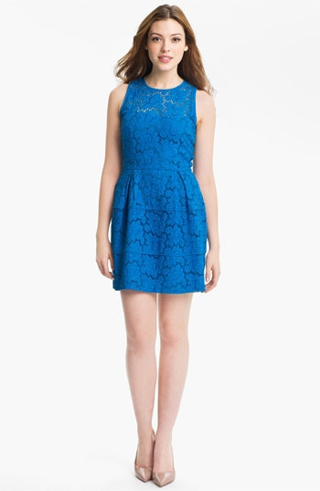 Nanette Lepore 'Treasure' Lace Fit & Flare Dress