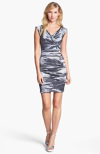 Nicole Miller 'Techno Metal' Textured Dress