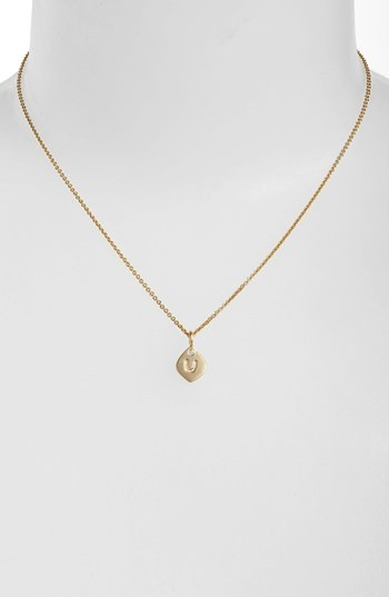 NuNu Designs Small Initial Pendant Necklace