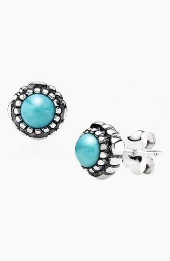 PANDORA 'Birthday Blooms' Stud Earrings