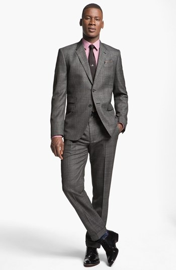 Paul Smith London Slim Fit Plaid Wool Suit