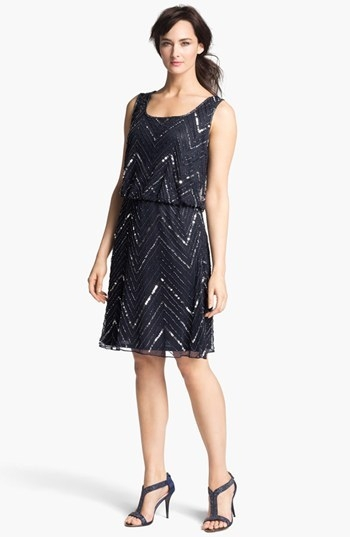Pisarro Nights Embellished Mesh Dress