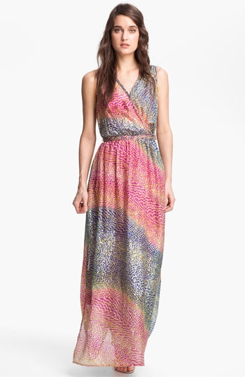 Presley Skye Print Surplice Maxi Dress